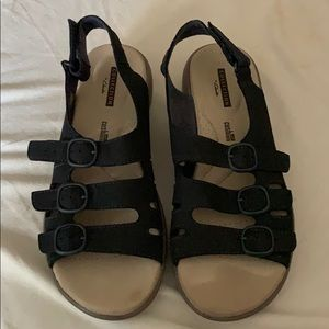 Navy Blue Clarks Collection Sandals